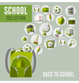 Back to school icon set vector image vector image
