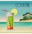 beverage menu design vector image