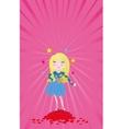Girl star of love vector image