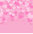 beautiful valentines day background vector image