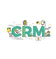 CRM Customer relationship management vector image