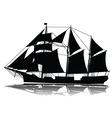 a large sailing ship vector image