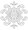 Abstract contour pattern vector image