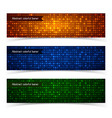 abstract technologic colorful horizontal banners vector image