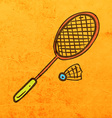 Badminton Cartoon vector image