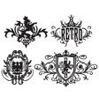 classic royal heraldic emblem vector image