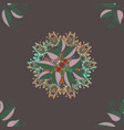 hand-drawn mandala with colored abstract pattern vector image