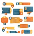 Paper infographics labels vector image