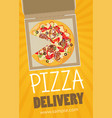 pizza box advertisement banner pizza box delivery vector image