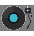 vinyl turntable flat design vector image