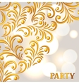 Celebration party background with golden ornament vector image