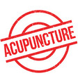 Acupuncture rubber stamp vector image