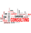 word cloud consulting vector image