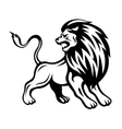 Angry lion vector image