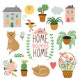 Home Sweet Home set of drawings vector image vector image