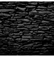 Stone wall black relief texture with shadow vector image vector image