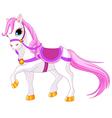 Princess horse vector image vector image