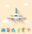 Flat set icons of planning summer vacation simple vector image vector image