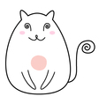 Simple Cat drawing character isolated on white vector image