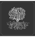 Hand drawn tree isolated sketch in vintage style vector image vector image