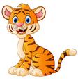 Cute tiger cartoon sitting vector image