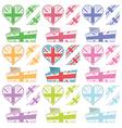 uk hearts and ribbons vector image vector image