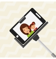 selfie with monopod design vector image