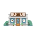 Cafe building flat vector image