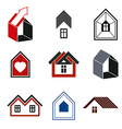 Houses abstract icons for use in advertising vector image