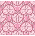 love seamless pattern with pink hearts vector image