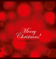 merry christmas poster greeting red blurred vector image