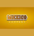 mexico western style word text logo design icon vector image
