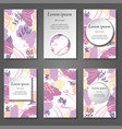 minimal covers set artistic painted vector image