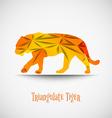 orange triangulate tiger vector image