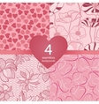 pink seamless backgrounds vector image