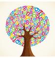 School education concept tree hand vector image