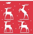 White deer silhouette logo icon new year symbol vector image