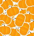 Orange pumpkin seamless background vector image