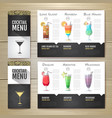 flat cocktail concept design corporate identity vector image