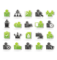 human resource and business icons vector image