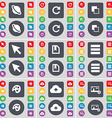 Planet Reload Copy Cursor File Apps Palette Cloud vector image