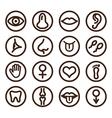 Medical line icon vector image vector image