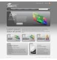 Gray Website Template 960 Grid vector image