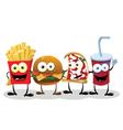 Four Happy Friends vector image