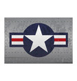 military aircraft roundel insignia distressed vector image