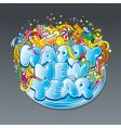 new year tag vector image