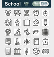 outline icon collection school education vector image