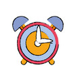 round clock alarm object design vector image