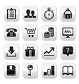 Web internet buttons set - vector image