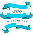 Retro ribbons set vector image vector image